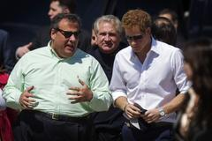 britains prince harry tours jersey shore, post-sandy